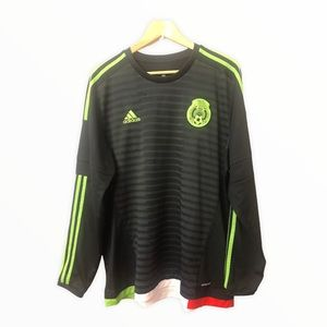 Adidas Mexico home long sleeve jersey